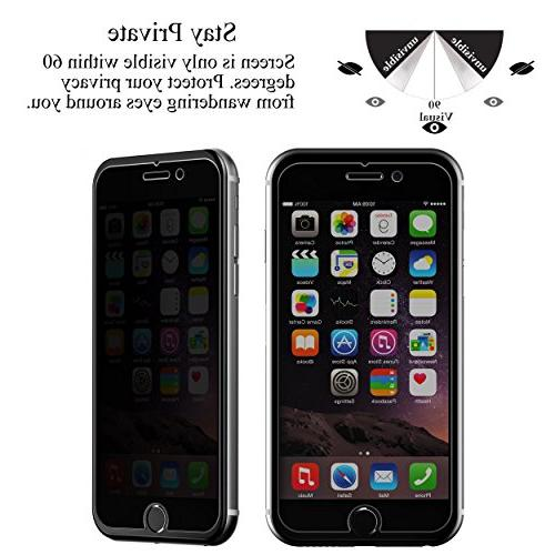 Ailun Protector with 7 Plus,Privacy,Anti-Glare,,Tempered Glass with 8/7 Friendly