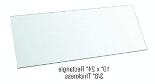 rectangle clear tempered glass shelf