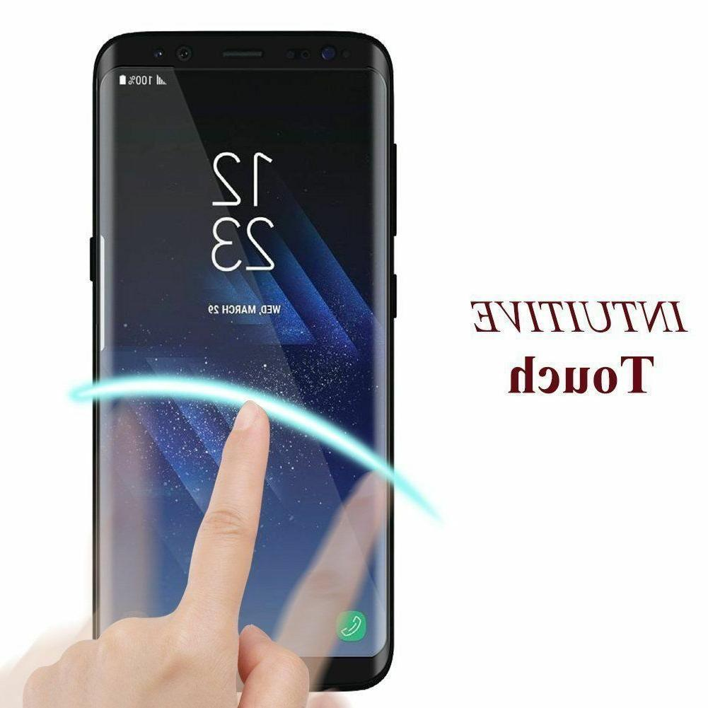 For Galaxy S9 S8 Plus 9 10 Full Tempered Glass Protector