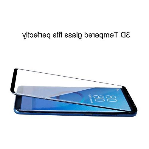 YRMJK Samsung Plus Screen Protector,3D Curved Dot Full Compatible Samsung Galaxy S9 Plus Tempered Glass Protector