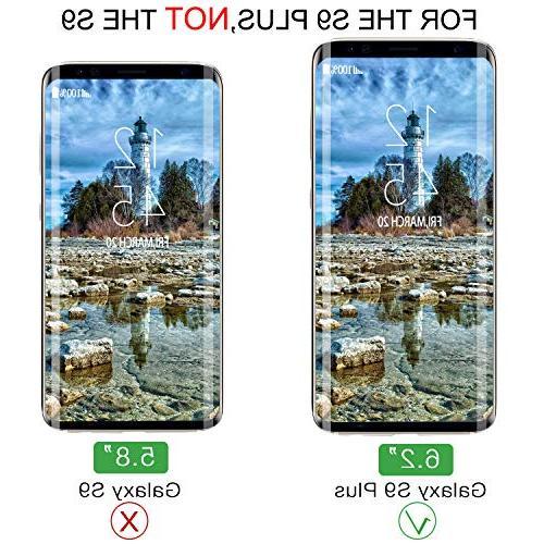 YRMJK Galaxy Plus Dot Matrix Compatible Samsung Galaxy S9 Plus Tempered Glass Protector