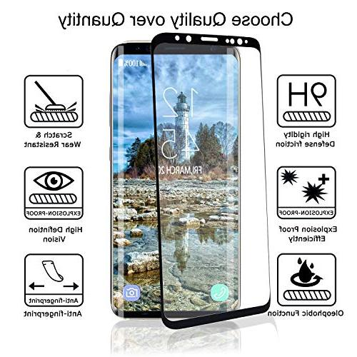YRMJK Plus Screen Protector,3D Dot Matrix Full Compatible Samsung Plus Tempered Glass Protector