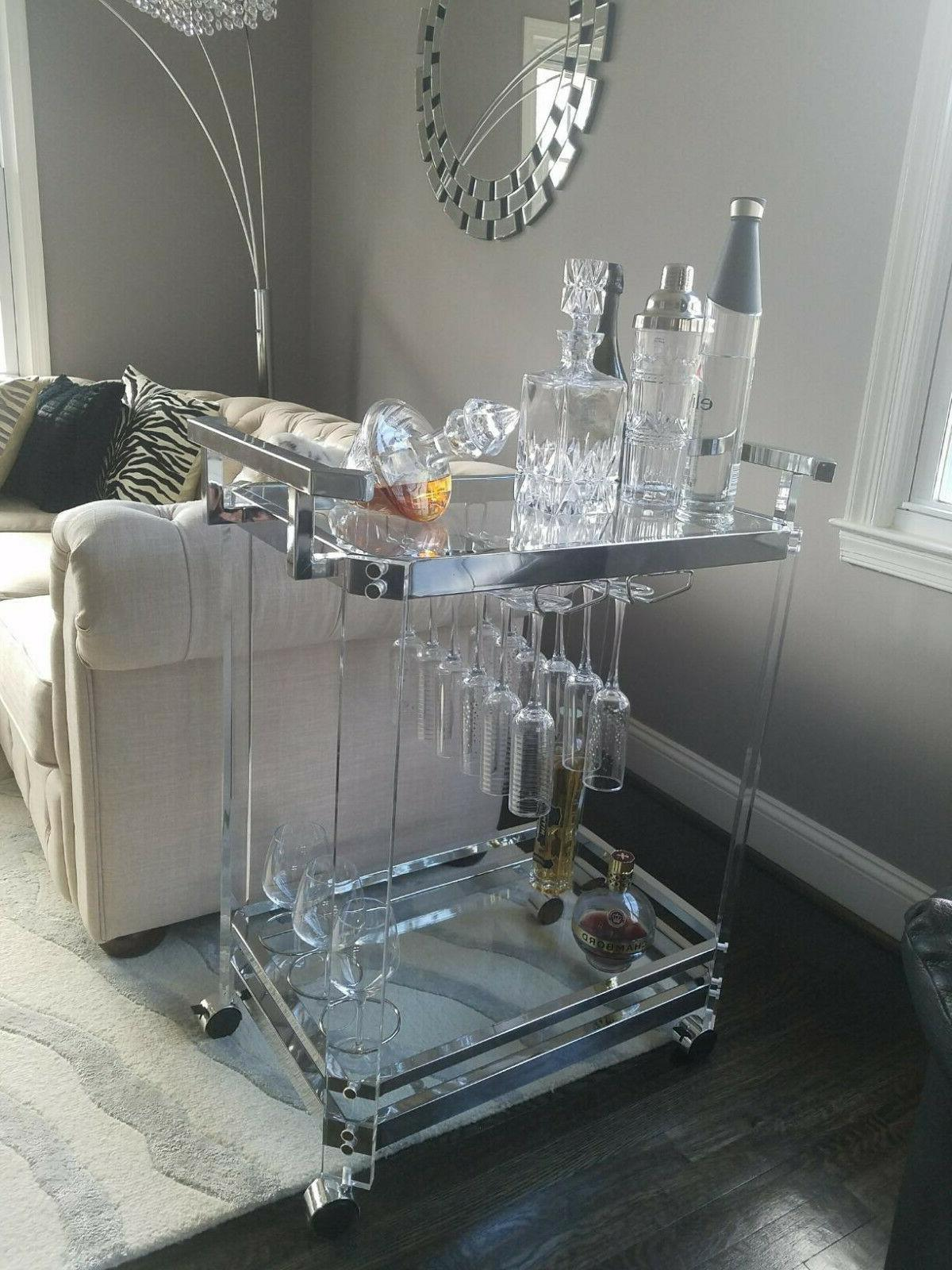 Serving Clear Tempered Rack 2 Acrylic