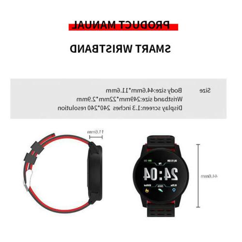 Smart Watch Pressure Heart Rate Wristband for iOS Android