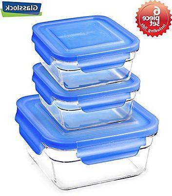 snaplock lid tempered storage square