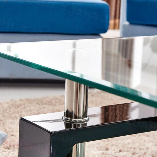 Square Glass Shelf Storage Living Room