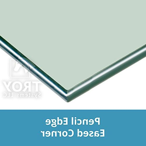 """TroySys Square Glass Table Top Tempered Glass With Edge & Corner For Dining Table, Coffee Table, Use - 30"""" Inch"""