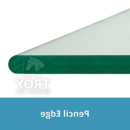 """TroySys Glass Top Custom Tempered Glass Pencil Edge & For Table, Home Office Use 30"""" L Inch"""