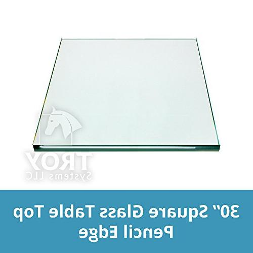 square glass table custom annealed