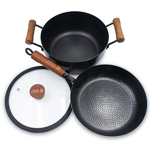 stylish nitriding forging iron cookware