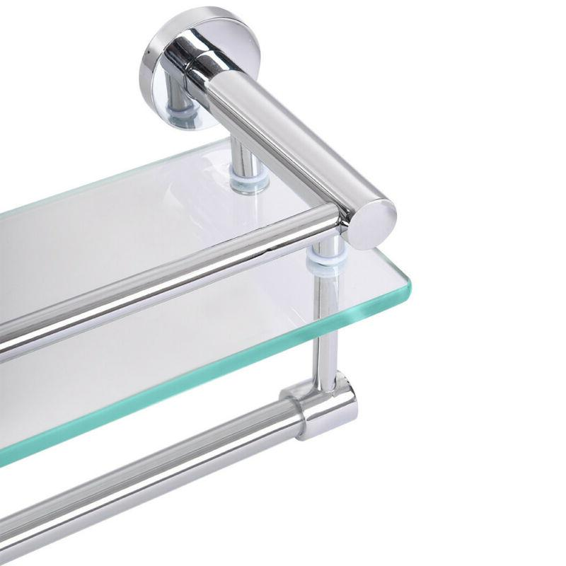 Tempered Glass With Bar Mounted Storage