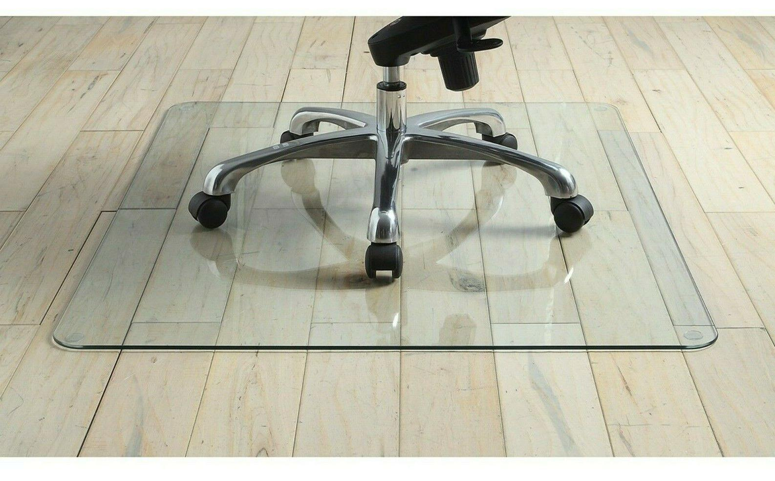 tempered glass chair mat