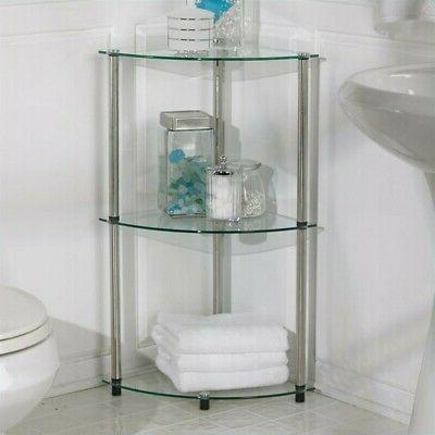 three tier corner shelf