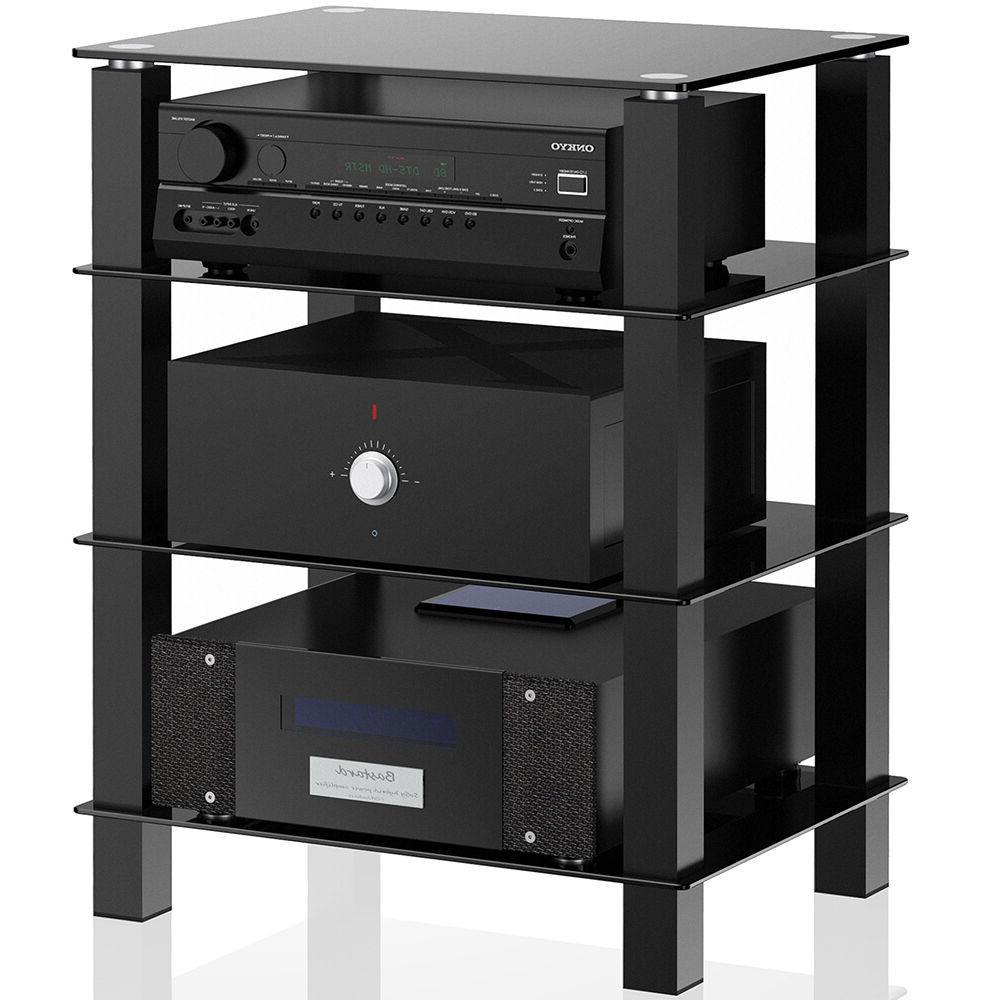 TV Entertainment Center Offfice Stand Shelves Media Console