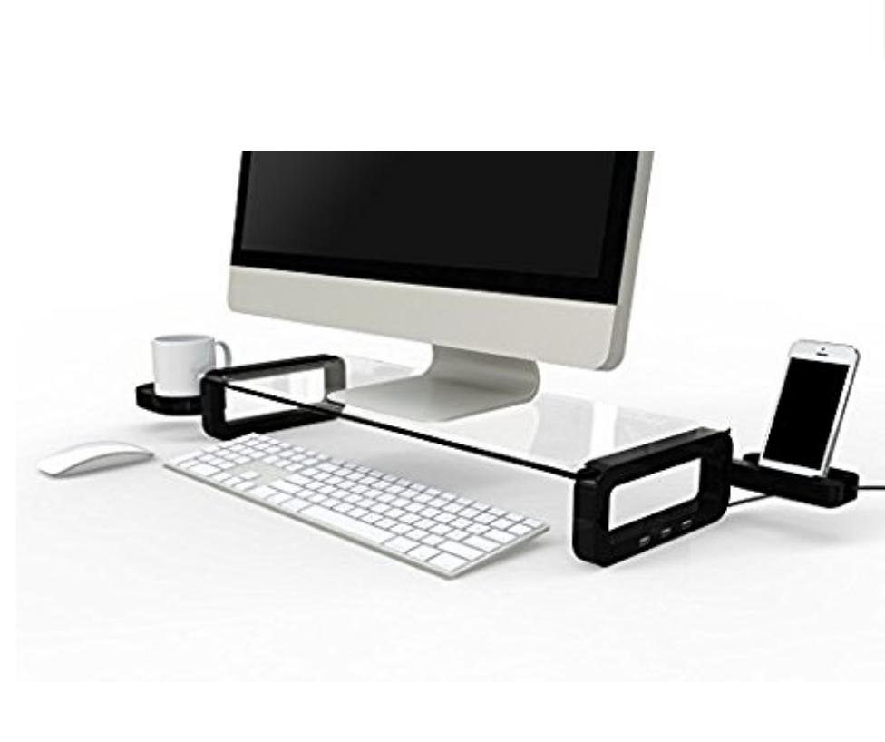 uboard smart tempered glass monitor stand built