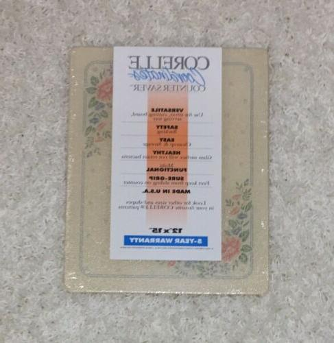 vintage counter saver cutting board tempered glass