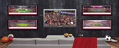 Washington Cougars Football - Single Mat, Select Framed Panoramas