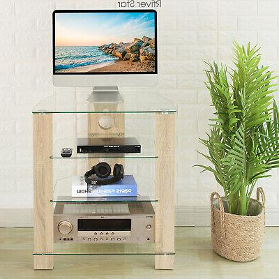 Wood Component Stand Audio-Video