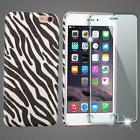 Zebra Skin Mod Leather case Tempered Glass Screen APPLE iPho