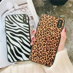 Leopard Print Tempered Glass UNBreak Phone Case Cover For iP