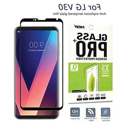 for LG V30 Screen Protector, Caryan 3D Curved Ultra Clear Te