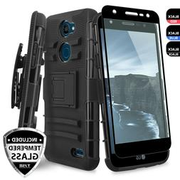 For LG X Charge/Fiesta 2 LTE/Power 2 3/ Rugged Case Holster+