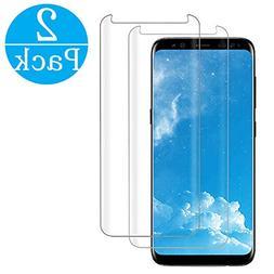 LuettBiden Compatible  Samsung Galaxy S8 Tempered Glass Scre