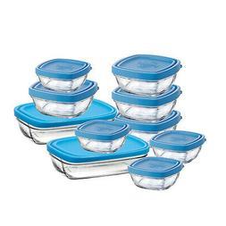 Duralex Lys 10 Piece Baby Set Tempered Glass Bowl Storage Co