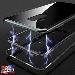 Magnetic Metal Tempered Glass Back Cover Case For Samsung Ga