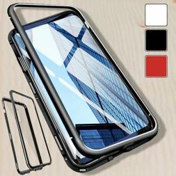 Magnetic Phone Case Tempered Glass Cover For Samsung S7 S8 S