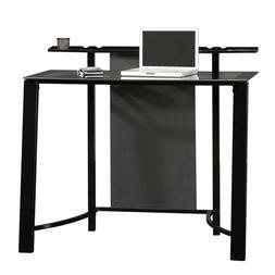 Sauder Mirage Desk, Black Finish