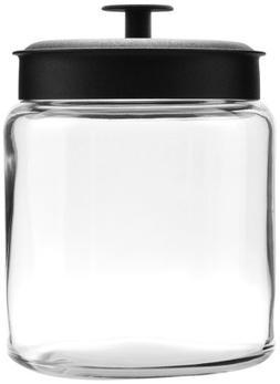 Anchor Hocking Montana Glass Jars withFresh Sealed Lids, Bla