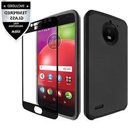 Moto E4 Case With Tempered Glass Screen Protector,IDEA LINE