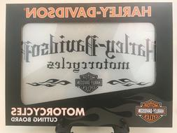 Harley-Davidson Motorcycle Tempered Glass Cutting Board