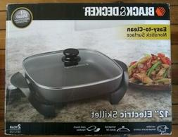 New Black & Decker 12-Inch Electric Skillet Nonstick Surface