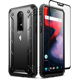 Poetic OnePlus 6 Rugged Case  Heavy Duty Case With Tempered