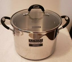 Tramontina Premium SS 6 Qt. Tri-Ply Bottom Stock Pot with Te