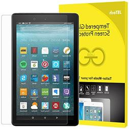 JETech Screen Protector for Amazon Fire 7  Tempered Glass Fi