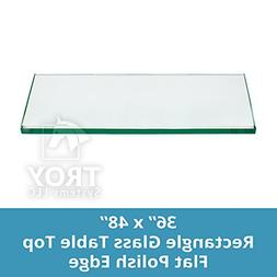 Rectangle Glass Table Top Custom Annealed Clear Tempered Thi