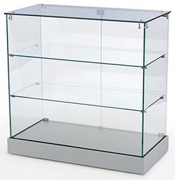 Retail Display Cabinet with Frameless Design, Tempered Glass