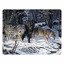 Rivers Edge Wolf Glass Cutting Board