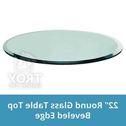 TroySys Round Glass Table Top Clear Tempered 1/2 Thick Glass