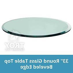 Round Glass Table Top 33 Inch Custom Annealed Clear Tempered