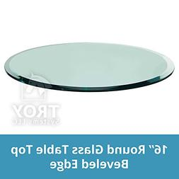 Round Glass Table Top Custom Tempered Clear Tempered 1/2 Thi