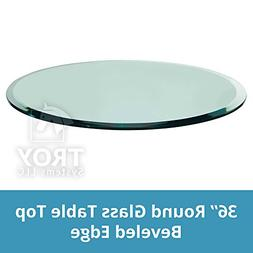 Round Glass Table Top Custom Annealed Clear Tempered Thick G