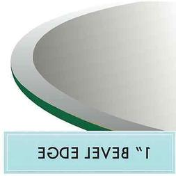 "52"" Round Glass Table Top 1/2"" Thick 1"" Beveled Edge"