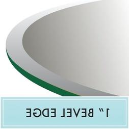 round thick clear tempered glass