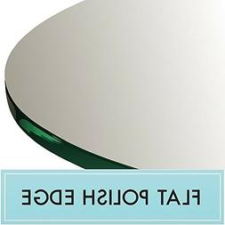 "42"" Round Tempered Clear Glass Table Top 1/4"" Thick Flat Pol"