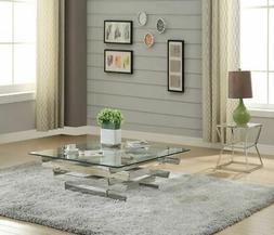 ACME Furniture  Salonius Coffee Table, Silver