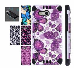 For Samsung Galaxy J7 Sky Pro Phone Case Cover + TEMPERED GL